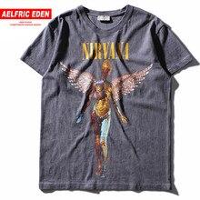 b80e30ebf Aelfric Eden Men s Heavy Metal NIRVANA Rock Band Personality Tshirt Do Old  IN UTERO Print T Shirt Mens Hip Hop Casual Tee Shirts
