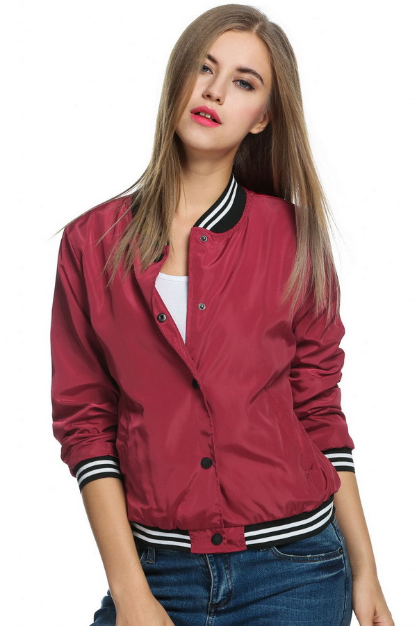 Vintage Bomber Jacket For Womens