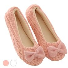 Retail Lovely Ladies Home Floor Soft Women indoor Slippers Outsole Cotton-Padded Bow Shoes Female Cashmere Warm Casual Shoes