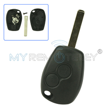 Remote key case shell cover for Renault Clio Modus Twingo Kangoo 2 button VA6 remtekey whatskey 1 button remote car key shell fob case cover for renault twingo clio master scenic kangoo vac102 blade replacement