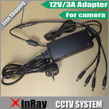 Free Shipping High-quality DC 12V 3A Power Supply Adapter  For CCTV Camera,Desk-top Power Adapter Wholesale XR-PA2