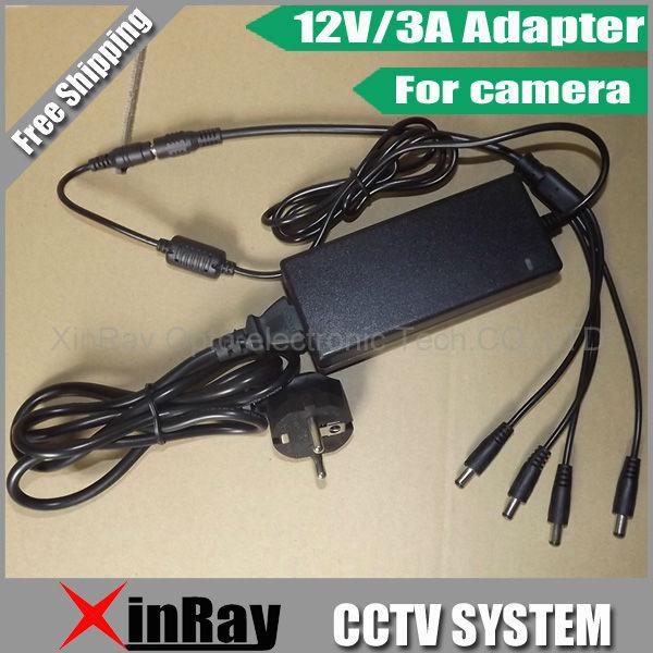 Frete Grátis de Alta Qualidade DC 12 V 3A Adaptador de Alimentação Para Câmera CCTV, Desk-top Power Adapter Atacado XR-PA2
