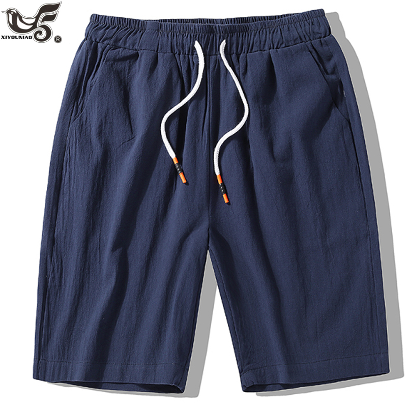 XIYOUNIAO Plus Size L~7XL 8XL Summer New Casual Shorts Men Cotton Sim Fit Solid Color  Knee Length Harem Bermuda Hip Hop Trouser