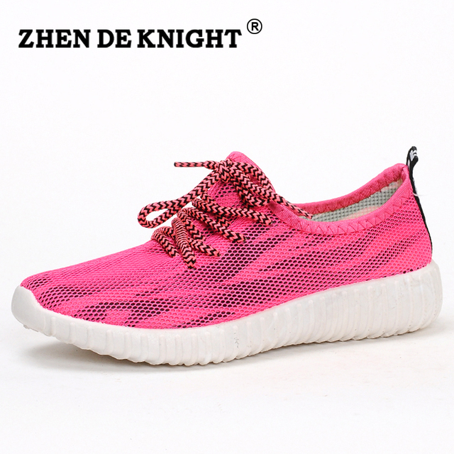 2016 super cool lady new color breathable trainers lace up flats zapatos mujer comfortable chaussure - Basket Femme Color