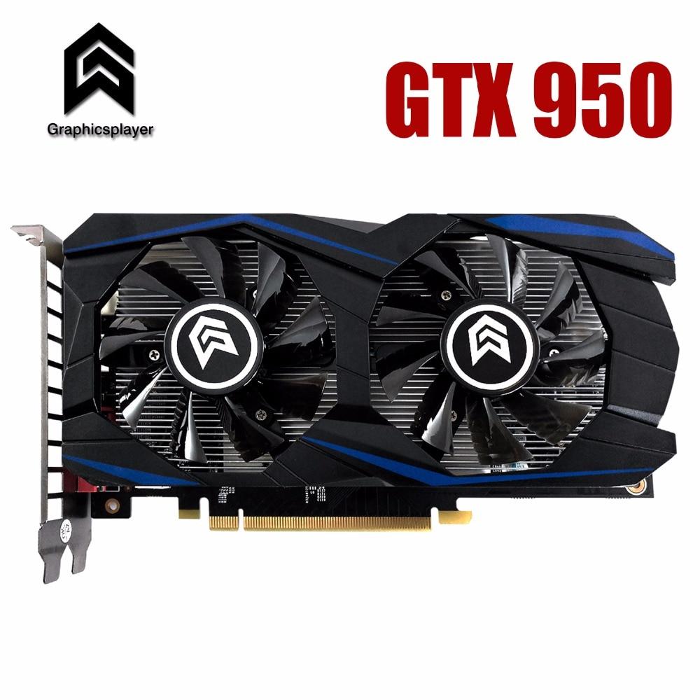 Graphic Card PCI-E GTX950 GPU 2G DDR5 For NVIDIA Geforce Game Computer PC