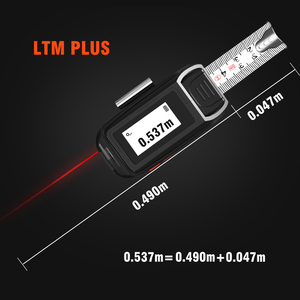 Image 4 - LOMVUM LTM USB Aufladbare Laser Band Laser Abstand Meter Echt Zeit Dada 40/60m Laser entfernungsmesser 5m Band LCD Digital NEUE