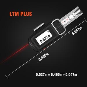 Image 4 - LOMVUM Medidor de distancia láser LTM, cinta láser recargable por USB, telémetro láser cada en tiempo Real de 40/60m, cinta LCD Digital de 5m
