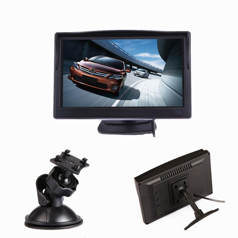 """"""" TFT lcd цветной экран автомобильный монитор HD800* 480 Автомобильный парковочный монитор заднего вида для камеры заднего вида VCD DVD VCR - Цвет: Black two bracket"""