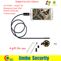 2IN1 Lente 5.5mm x 5 m 6 LED PC Endoscopio Android 2.0MP HD 720 P Alambre de agua Tubo Boroscopio Inspección Cameraon Video Cam 6 Ajustable LED