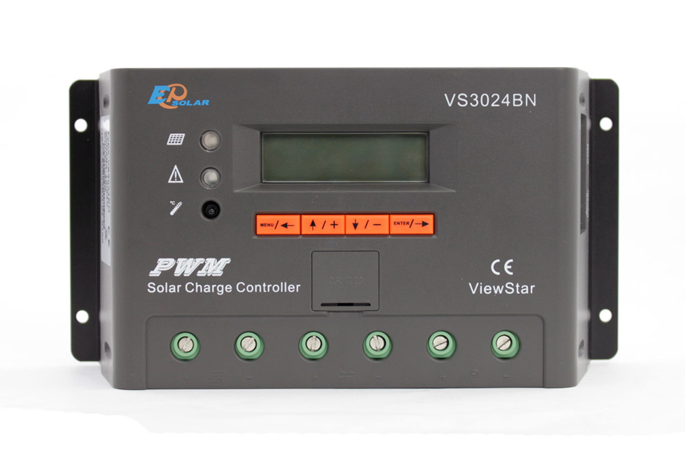24v 30amp EPSolar EPEVER New series solar controller VS3024BN Charger LCD display 30A 12v 24v auto work dmx512 digital display 24ch dmx address controller dc5v 24v each ch max 3a 8 groups rgb controller