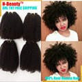 8А Монгольский Афро Кудрявый Вьющиеся Волосы 4 Bundls Красоты Продукты Волос Монгольский Странный Вьющиеся Волосы Ткать Пучки Человеческих Волос