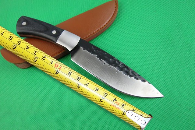 B09 Small Hunting font b Knife b font 3Cr13 Blade Steel Head Wood Handle font b