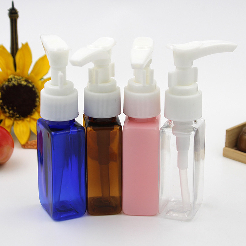5pcs/10pcs 30ml Random Color Square Baby Bath Shower Shampoo Cap Tool Travel Plastic Atomizer Empty Refillable Spray Bottle
