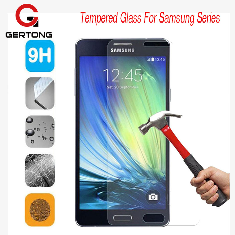 GerTong 9H Tempered Glass For Samsung Galaxy J5 2016 2015 S6 S3 S4 S5 Mini Note 2 4 5 Xcover3 Screen Protector Toughened Glass