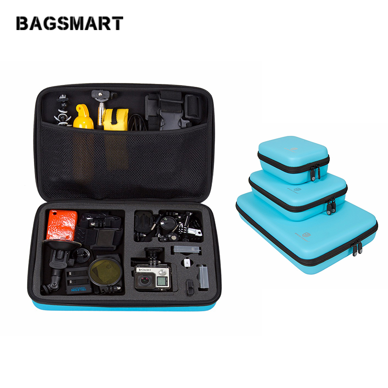 BAGSMART Camera Accessory Case Kit For GoPro Hero 4321 Shakeproof Waterproof Box For Camera Accessories Camera Collection Box