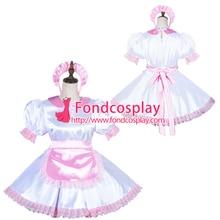 c763d3ed6 fondcosplay Lockable Sissy Maid Satin Dress Unisex CD/TV Tailor-Made G3819