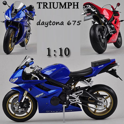 Us 240 110 Triumph Daytona 675 Edition Alloy Model Motorcycle Kids Toys Children Christmas Gift Motorcycle Decoratecollect Simulation In Diecasts