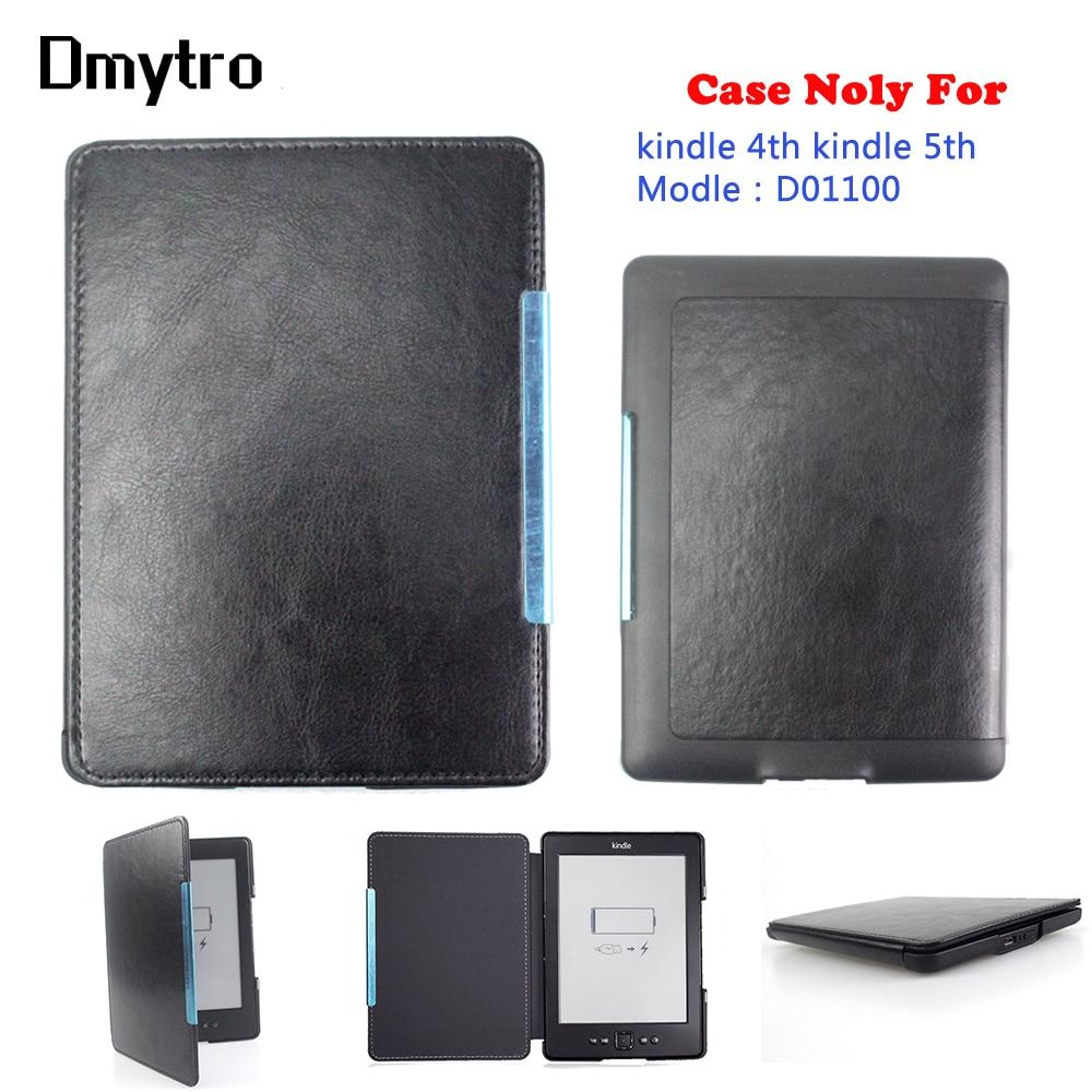 Pu de couro magnética tampa Para Amazon kindle kindle 4 5 (Modelo: D01100) ebook eReader caso capa protetora