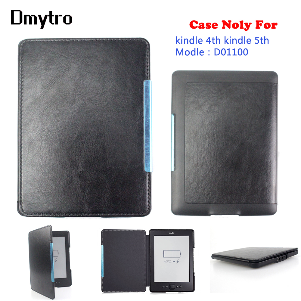 Pu leather magnetic cover For Amazon kindle 4 Kindle 5(Modle:<font><b>D01100</b></font>) protective ebook eReader cover case image