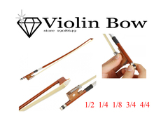 Muse-1/2 1/4 8/1 3/4 4/4 Violin Bow Fiddle Bow Arbor Materail Violin Part Accessories Wholesale Retail violin bow g01 violin bow