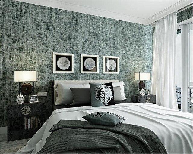 Aliexpress Buy Beibehang 48D Wallpaper Modern Linen Texture Stunning 3D Bedroom Design