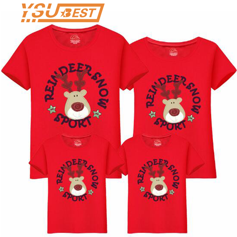New Family Matching Clothing Christmas Mother And Daughter Clothes Family Look T-shirt Mother Son Outfits Cotton Dad Son Clothes
