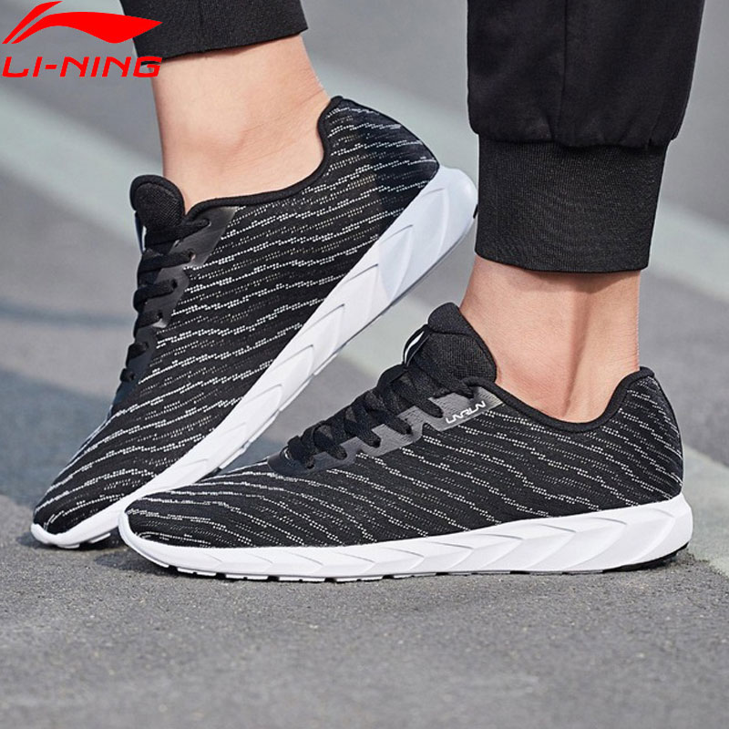 Li Ning Men BASIC RUNER Running Shoes Mono Yarn Breathable LiNing Light Weight Sneakers Fitness Sport