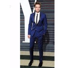 Custom made royal blue Tailcoat Men Suit Slim Fit Wedding Suits For Men Groom mens Tuxedo Bridegroom smoking 2017(jackets+Pants)