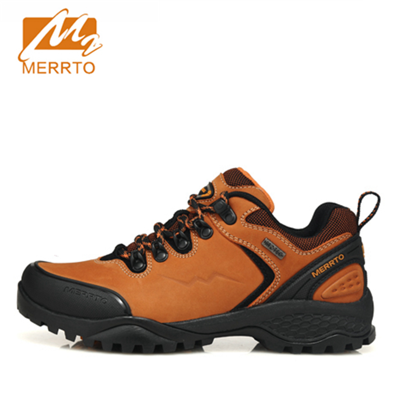 MERRTO Women Waterproof Hiking Shoes Women Genuine Leather Mens Hiking Boots Waterproof Trekking Shoes Mountain Boots Shoes 2018 merrto women hiking boots waterproof outdoor sports shoes full grain leather plus velvet for women free shipping 18001