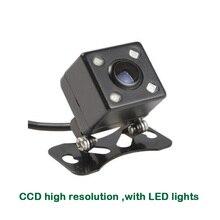 CCD с высоким разрешением универсальная камера заднего вида с светодиодные фонари для автомобиля Радио dvd-плеер
