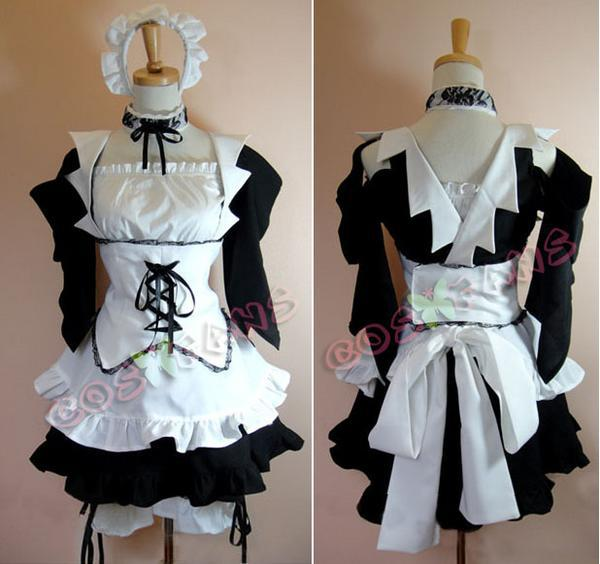 Kaichou Wa Maid-Sama Anime Ayuzawa Misaki maid outfit Cosplay Costume Custom Made Free Shipping