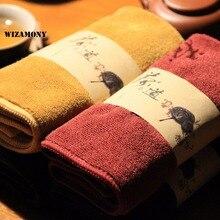 WIZAMONY, низкая цена, чайные полотенца из сверхтонкого волокна, чайный набор, абсорбирующий, сильный, кунг-фу, высококачественные чайные салфетки