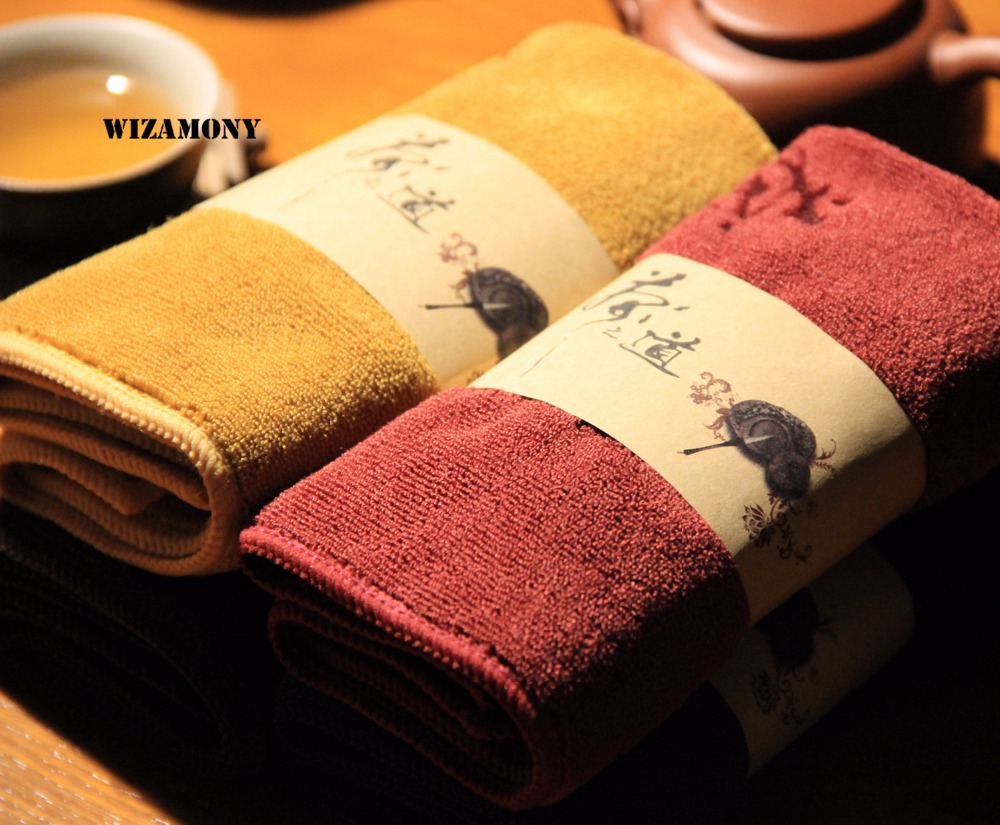 WIZAMONY Low Price Superfine Fiber Tea Towels Tea Set Absorbent Strong Kung Fu High-grade Tea Cloth Tools Tea Napkins
