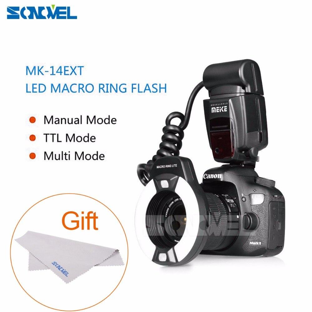 Meike MK-14EXT Macro TTL anneau flash E-TTL TTL avec LED AF aider lampe pour Canon 5 5DIII 5DII 7D 700D 650D 600D 760D 6D 40D 450D