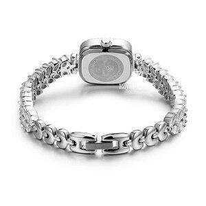 Image 3 - Volledige Crystal Royal Crown Dame Vrouwen Horloge Japan Quartz Uur Fijne Mode sieraden Klok Armband Luxe Meisje Gift