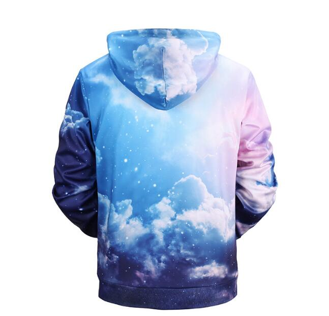 Men Cotton 3D Printed Sky Casual 1