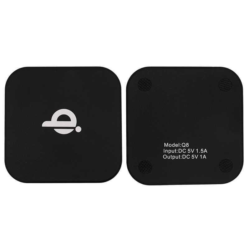 Kebidu moda cuadrado negro Mini Universal Qi carga inalámbrica almohadilla de carga Receptor bobina almohadilla para Smartphone