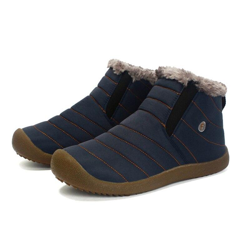 2019 New Cotton Shoes Winter Non slip Waterproof Men Boots Warm Chelsea Fashion Shoes Men Fur Snow Boots Men Shoes Bottes 227