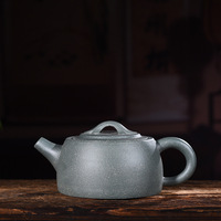 Yixing recommended authentic pure manual undressed ore chlorite well bar pot teapot tea kungfu tea set gift
