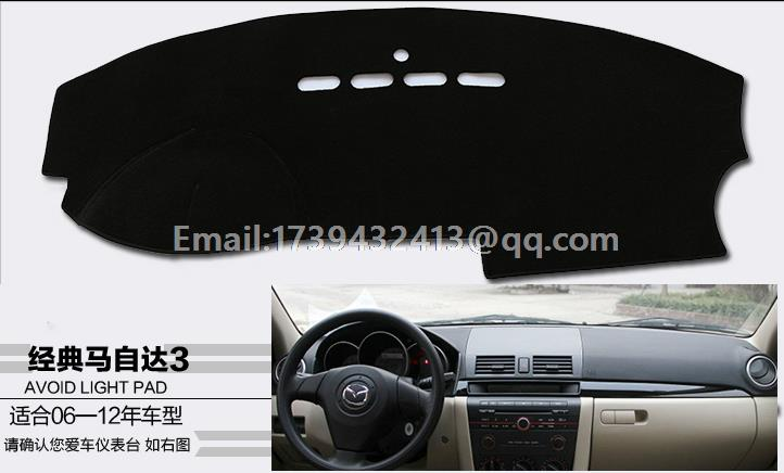 for mazda 3 2006 2007 2008 2009 2010 dashmats car-styling <font><b>accessories</b></font> dashboard cover