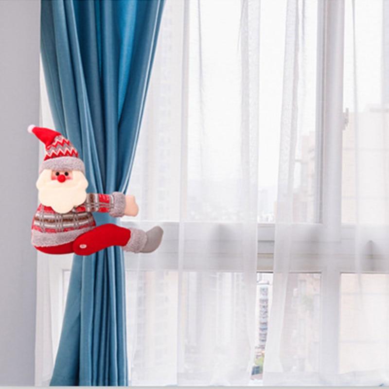 САНТА снеговик занавес пряжки украшения Рождественские украшения для дома Noel новый год ткань игрушки настольные украшения куклы поставки