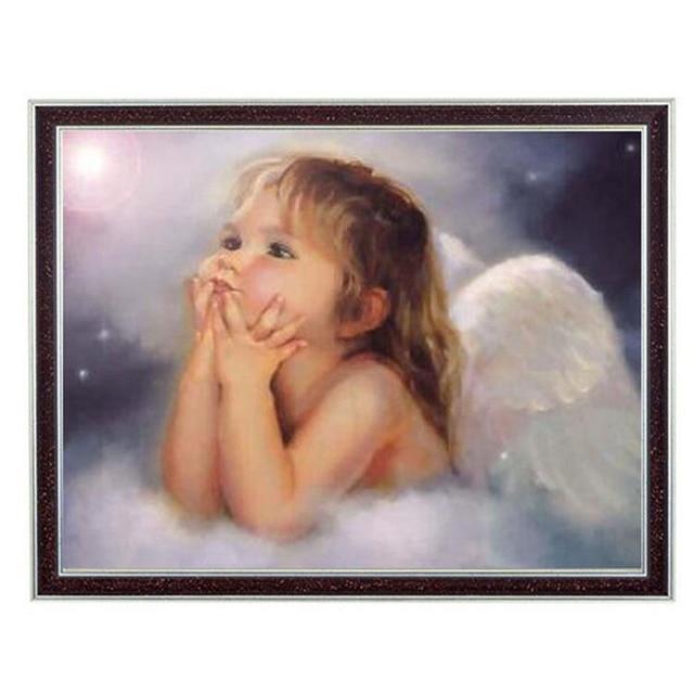 Elf Kleiner Engel Mädchen Menschen Hand, DMC Baby kreuzstich ...