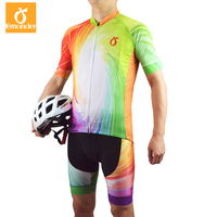 EMONDER Pro Team Cycling Jersey And Bib Shorts For Race Cut Italy Anti Slip Band Around