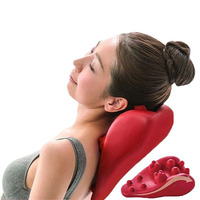 New 2019 Health care soothing massage pillow mat Acupressure massage neck cervical vertebra of neck back massager relieve