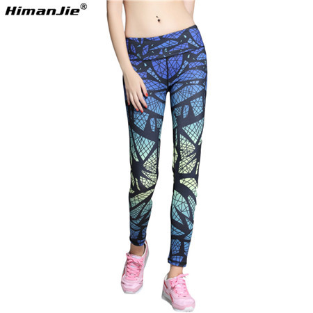 HimanJie Leggings 2016 Summer autumn Styles Sexy Fashion Women Fitness Leggings New cool Mesh print Pencil Trousers Jeggings