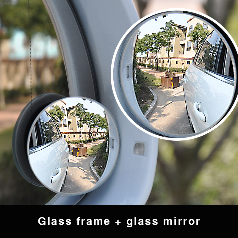 Weinuo 2 Pcs Set Car Styling 360 Degree Framless Blind Spot Mirror Wide Angle Round Hd Glass Convex Rear View Mirrors Mirror Covers Aliexpress