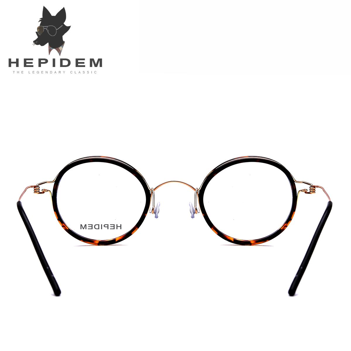 Titanium Optical Glasses Frame Men Prescription Eyeglasses Ultralight Women Round Korean Brand Designer Myopia Screwless Eyewear