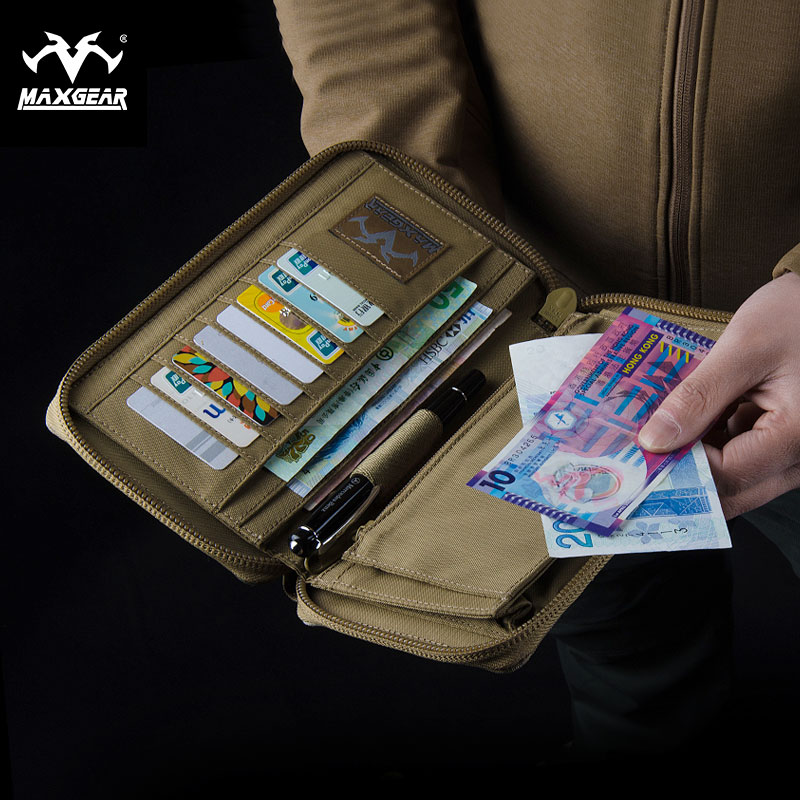 The man in the long purse Maxgear  camouflage wallet  EVEGEAR  personality tide movement