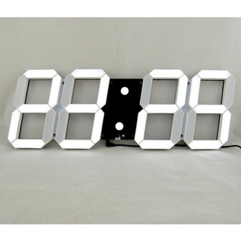 1Pc Modern Design Digital LED Wall Clocks Big Creative Vintage Watch Home Decoration Decor 3D Gift Optional Plug
