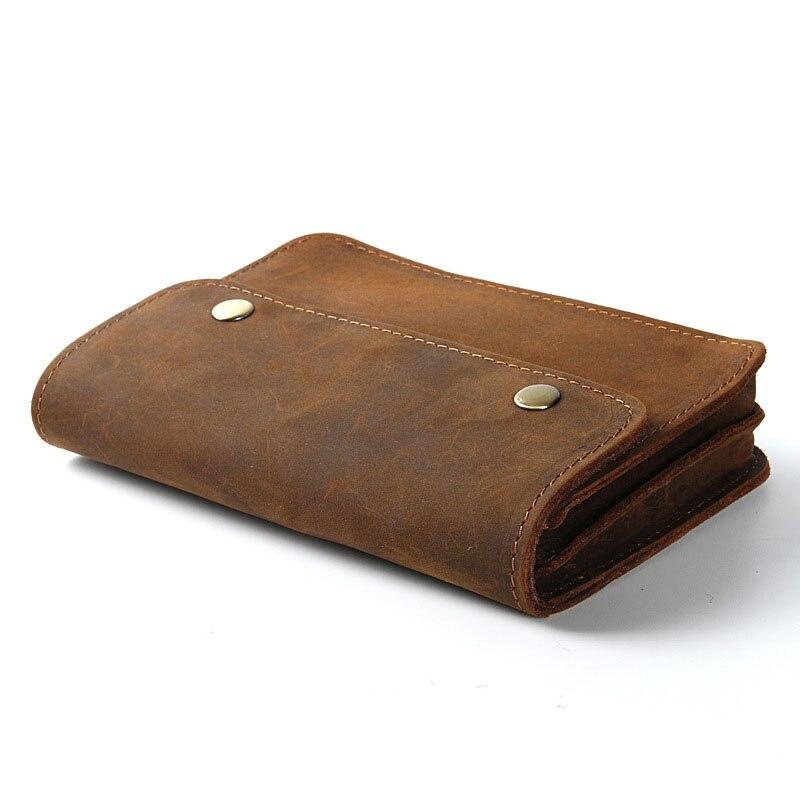 Men Document Bag Mini Genuine Leather Cowhide Small Document Bags File Holder for Business Travel Joy Corner